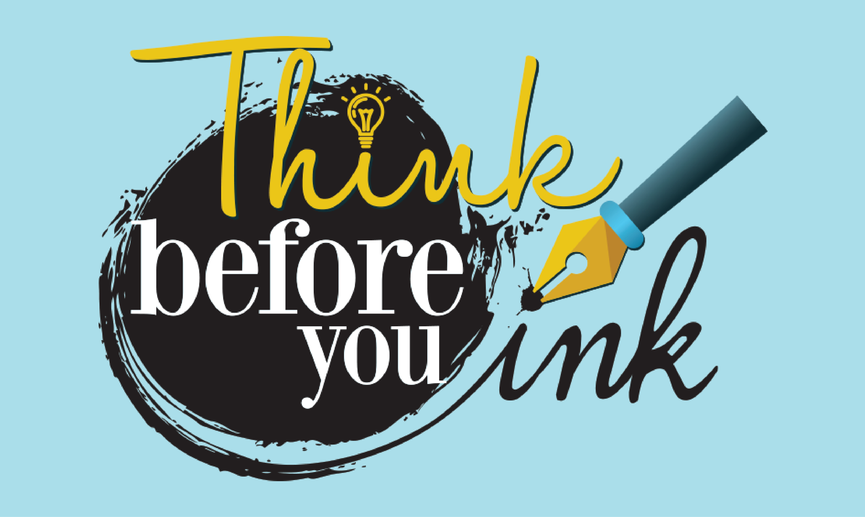 Think Before You Ink graphic
